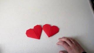 Оригами - сердце на день Святого Валентина.