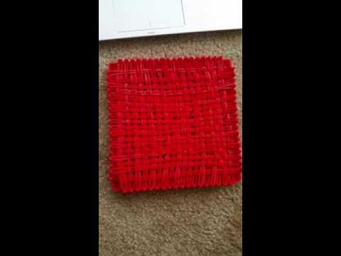 Week 4 Finshed weaving, sealing ends red