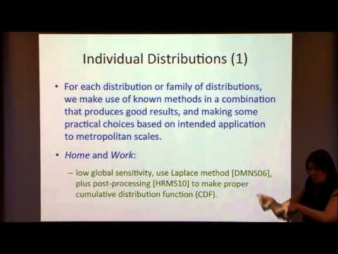 DP-WHERE: Differentially Private Modeling Of Human Mobility