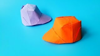 折纸王子教你折纸棒球帽子,讲解详细,简单又漂亮形象 origami easy tutorial 折り紙 簡単教程