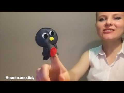 Little Robin Redbreast/Teacher Anna Singing With Puppets 2019 New