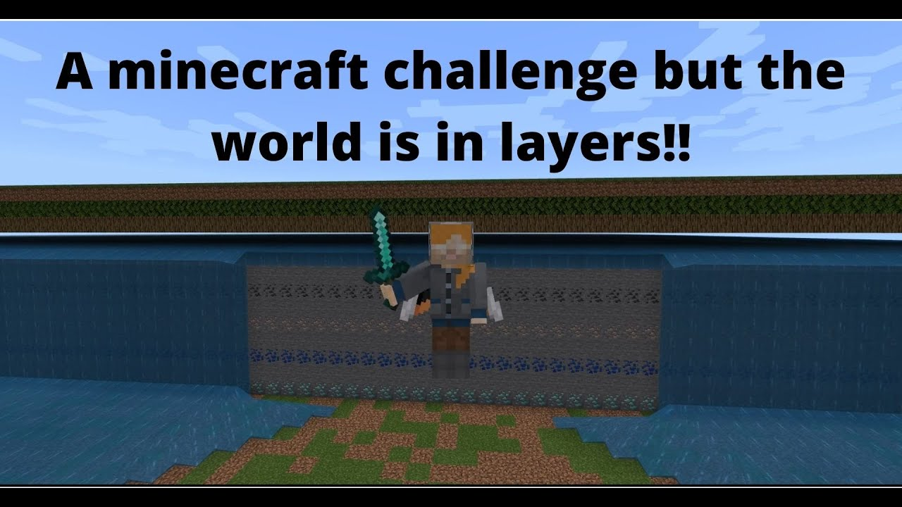 Minecraft bedrock uhc but the world is in layers - YouTube