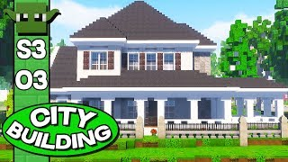 Minecraft City Building Season 3 E03 - AMERICAN HOUSES!