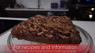 Turtle Brownies With Pecans And Caramel    Panasonic Cooking Canada