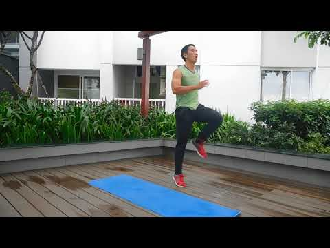 Bài tập cardio nâng cao 200 calo trong 10 phút tại nhà | HLV Ryan Long Fitness