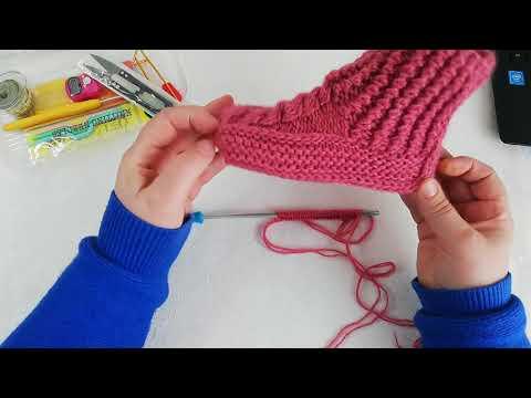 Вязание двумя спицами носков для детей