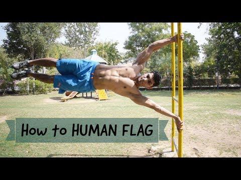 HOW TO DO HUMAN FLAG in Hindi | Vikas Choudhary