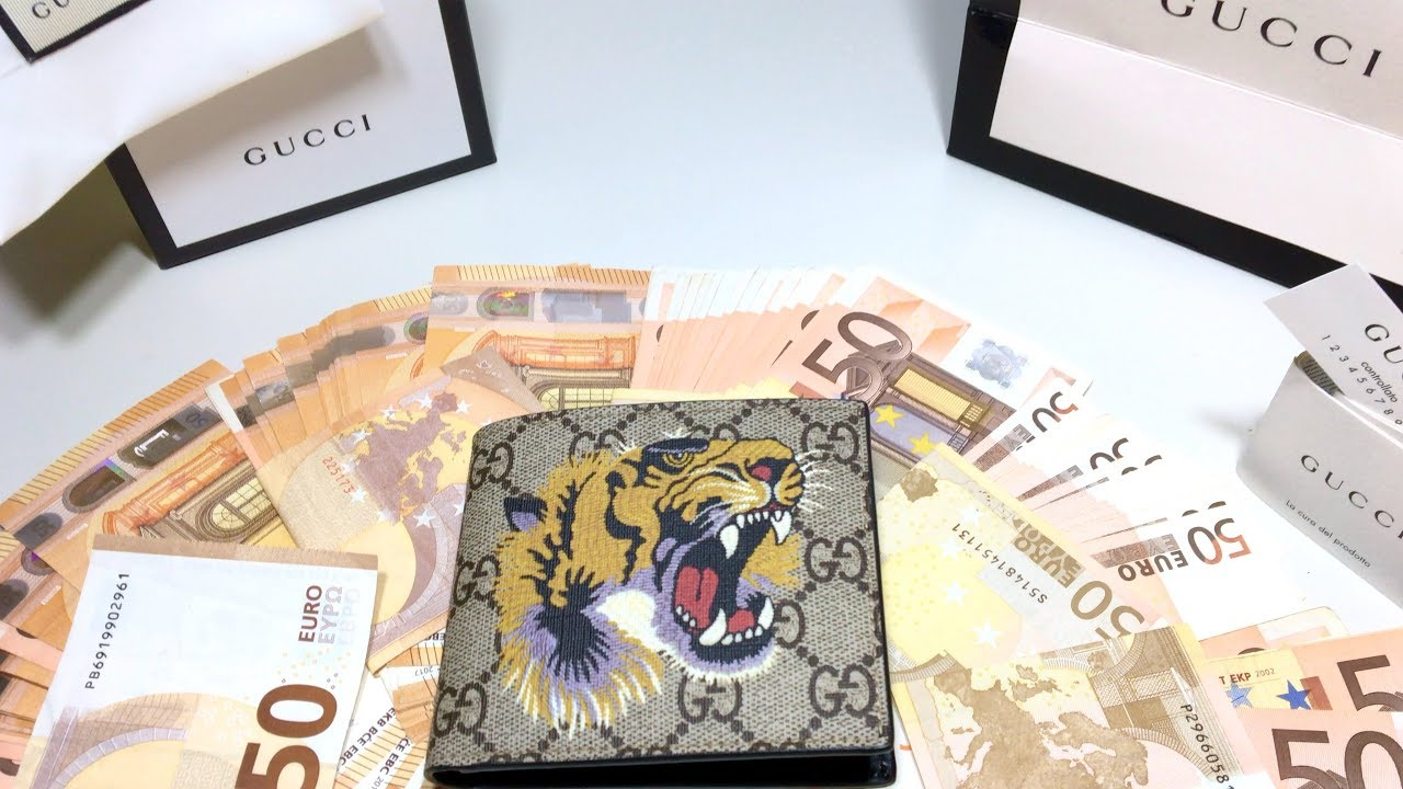 9dd47c54e9 Gucci Tiger Wallet Unboxing - YouTube