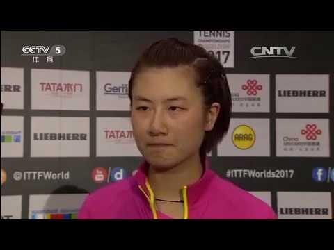 2017 WTTC Interview Ding Ning after Winning Miu Hirano (Eng Sub) -- CCTV5