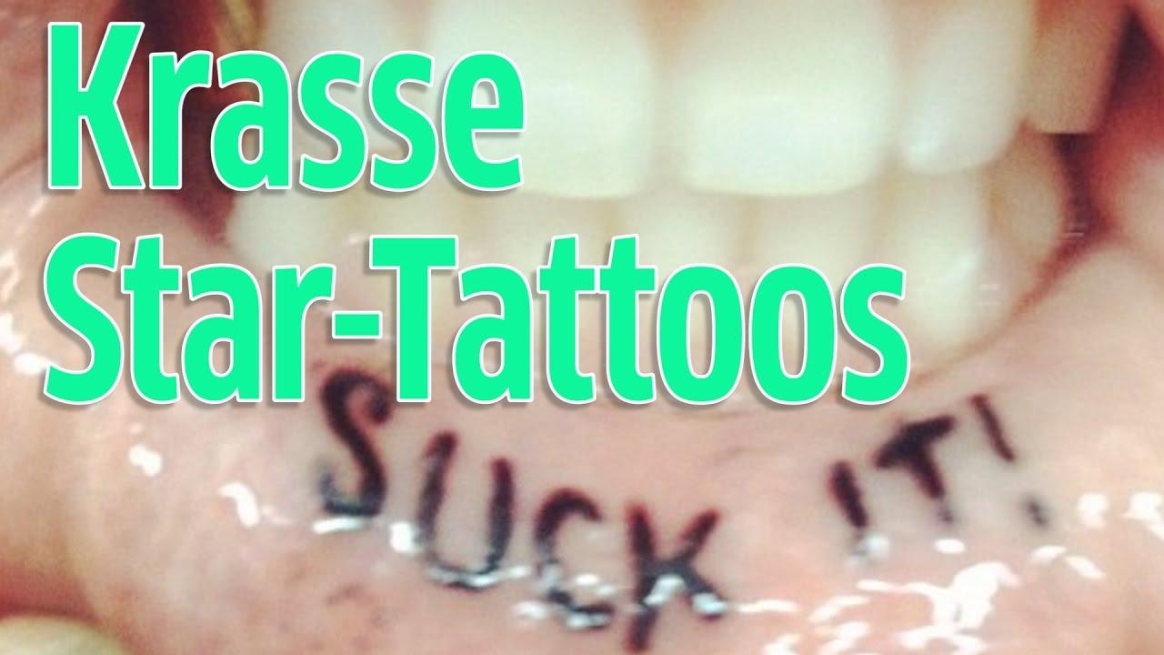 Ausgefallene Tattoos Der Stars Youtube