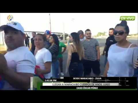 Venezuela - Asi llegaron los cuerpos al Cementerio en el Zulia del caso Oscar Perez
