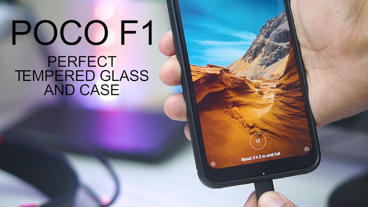 uk availability aafde 61592 Poco F1 Perfect Tempered Glass + Case Combo!
