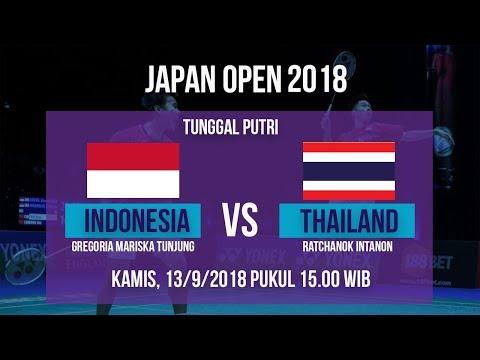 Jadwal Live Laga Tunggal Putri, Gregoria Mariska Vs Thailand Di Japan Open 2018 Pukul 15.00 WIB
