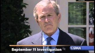 President Bush On Testifying To the 9/11 Commission With Cheney