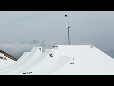 Veja o video – World Record Christian Haller highest snowboard air on hip at Suzuki Nine Knights 2016