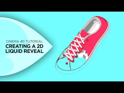 How To Create A 2D Liquid Reveal In Cinema 4D
