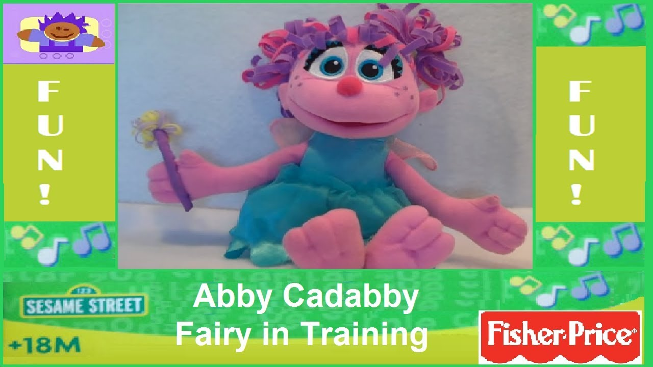 Sesame Street Talking Abby Cadabby The Fairy In Training Plush Toy Doll By Fisher Price