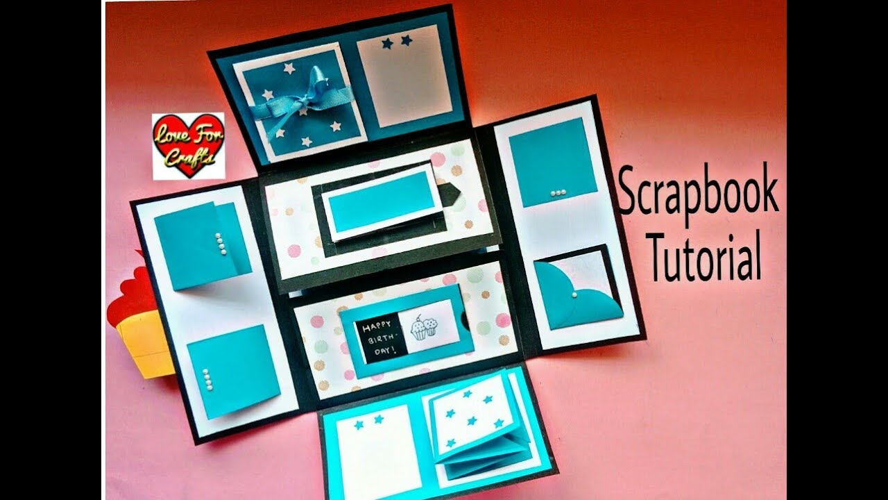How To Make A Scrapbook Scrapbook Tutorial Diy Scrapbook Idea