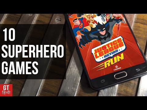 Top 10 Super Hero Games for Android (DC+Marvel) | GT Hindi