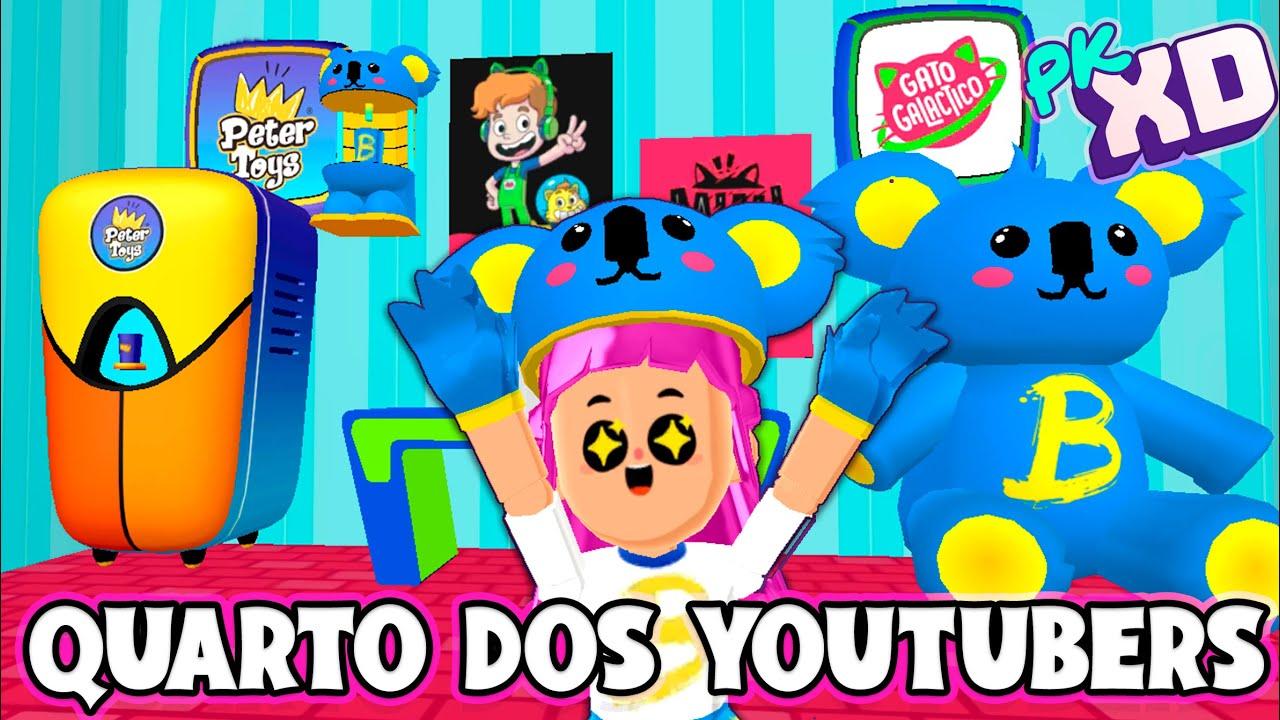 QUARTO DOS YOUTUBERS - TODOS OS PACOTES - PK XD