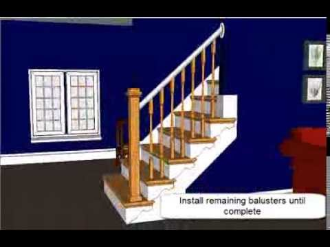 Marvelous Open Sided Staircase Remodel With Adjustable Wooden Balusters