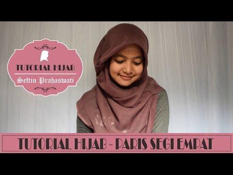 Tutorial Hijab Segi Empat Untuk Wajah Bulat.