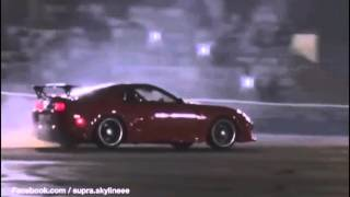 Toyota Supra 2JZ Antilag Burnout  - Compilation