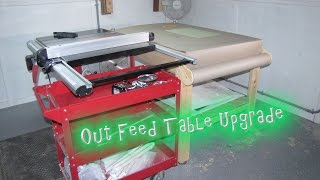 My Out Feed Table Upgrades For My Tablesaw