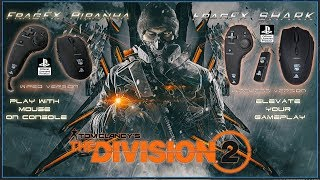THE DIVISION 2 LIVE @ 15.03.19 MIDNIGHT - PS4 GAMING MOUSE - FRAGFX SERIES MOUSE 🖱️ - Sony licensed