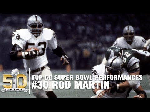 #30: Rod Martin Super Bowl XV Highlights | Top 50 Super Bowl Performances | NFL
