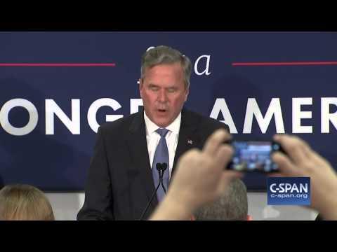 Jeb Bush Suspends Campaign - FULL SPEECH (C-SPAN)
