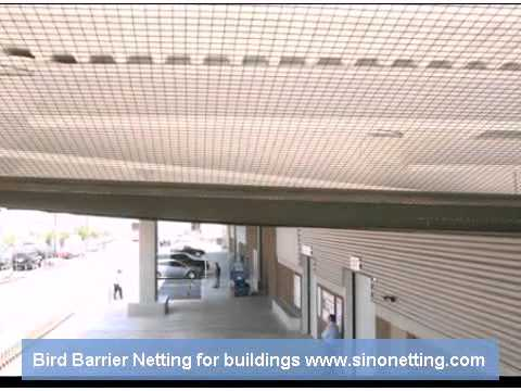 building anti bird netting