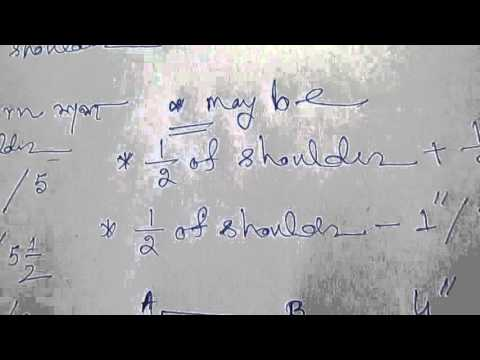 How to Cutting Back Part of Blouse with Formula  part 1 of 3 hindi