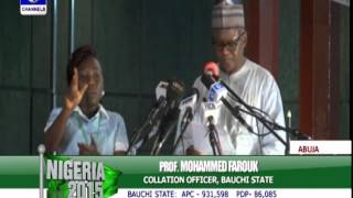 #Nigeria2015: Presentation Of Bauchi State Presidential Poll Result