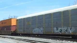 Railfanning in Dalton,Georgia,Norfolk Southern,CSX,