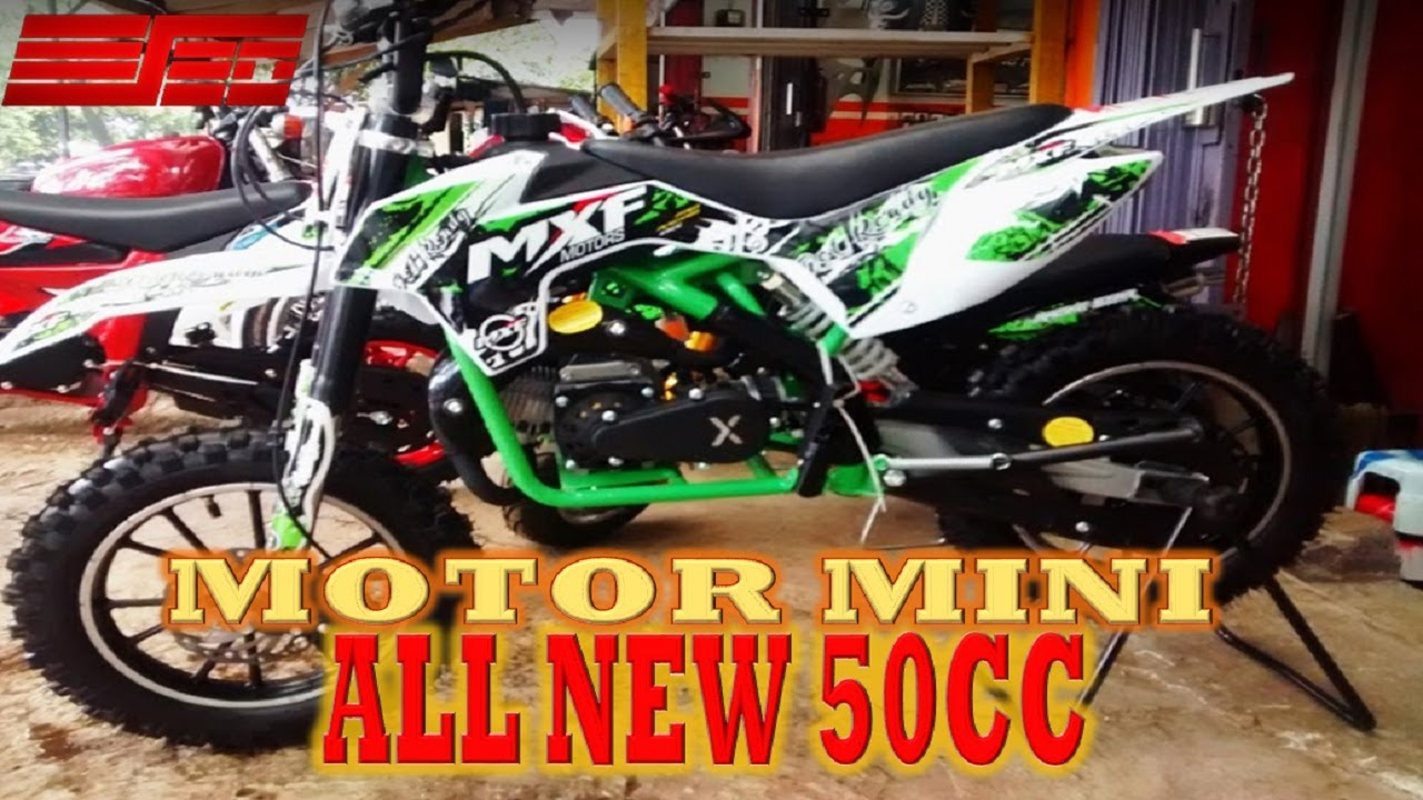 Motor Mini Trail All New 50 Cc 2 Tak Depok Youtube
