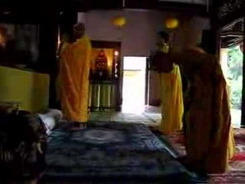 Monks praying at Tu Hieu Pagoda part 1