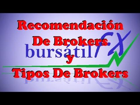Recomendación de Brokers y Los Tipos de Brokers (forex)