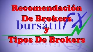 Cover images Recomendación de Brokers y Los Tipos de Brokers (forex)