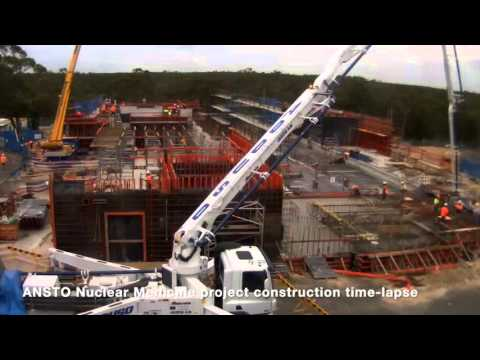 ANSTO Nuclear Medicine Construction time-lapse April 2016
