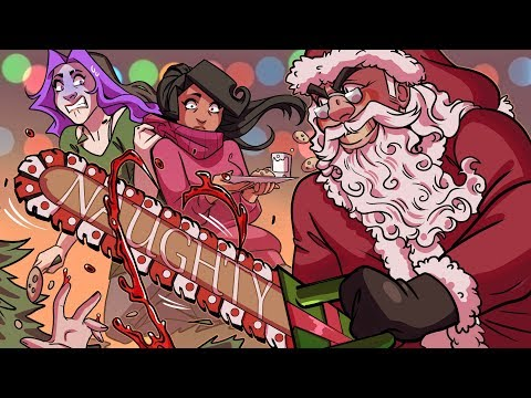 SANTA WANTS TO SLAY US ALL   Christmas Horror Game - Puppet Combo - FULL Game/End
