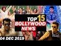 Top 15 Bollywood News | 04 Dec 2019 | Jayeshbhai Jordaar , Akshay On Clash With Salman,TKSS