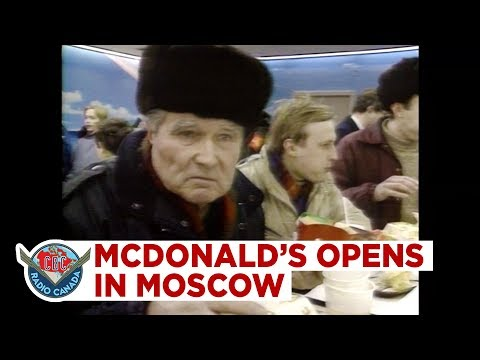 McDonald's Opens In Hungry Moscow, But Costs Half-a-day's Wages For Lunch, 1990