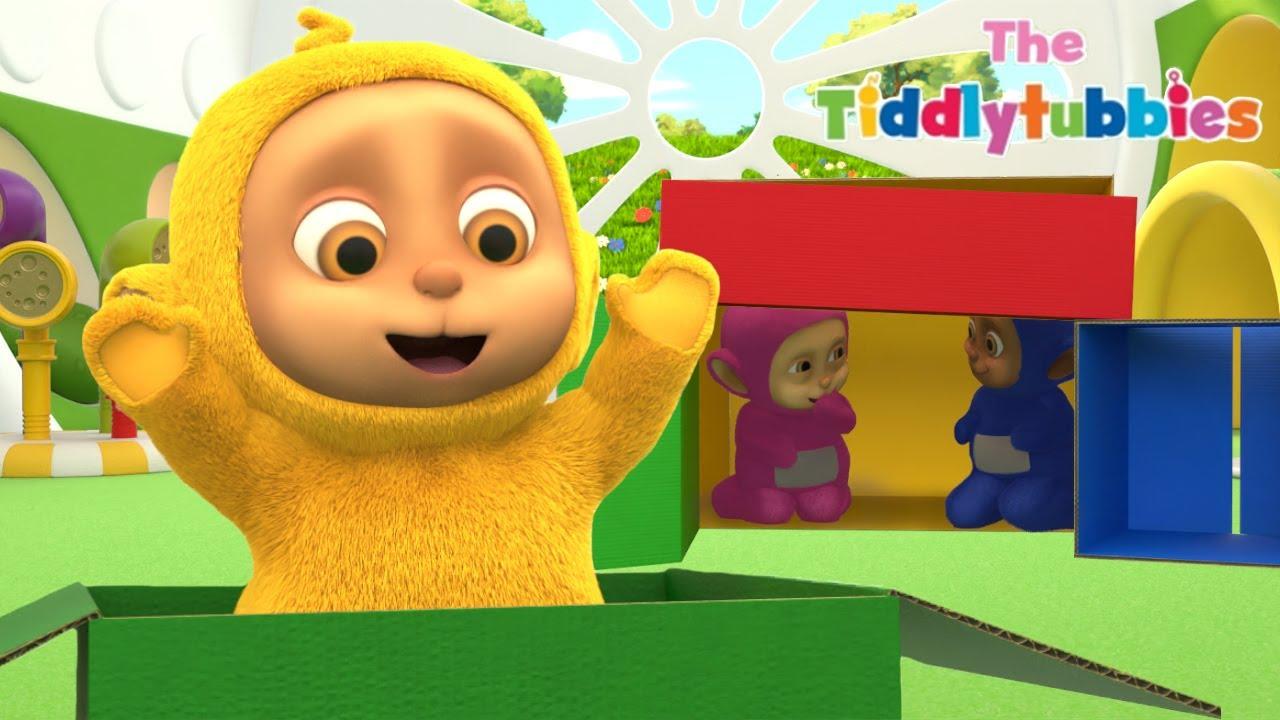 Tiddlytubbies NEW Season 4 ★ Episode 11: Build A Cardboard Box Fort ★ Tiddlytubbies 3D Full Episodes