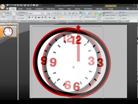 Làm đồng hồ đếm thời gian trên Powerpoint