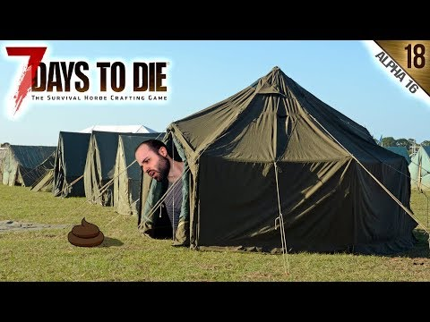 7 DAYS TO DIE A16 #18 | LOS CAMPAMENTOS MILITARES | Gameplay Español