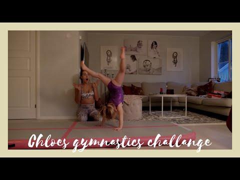 Chloes Gymnastics challange, kan hon göra flickis 😱