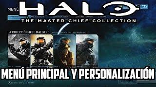 Halo The Master Chief Collection TODA LA PERSONALIZACIÓN y MENÚ PRINCIPAL