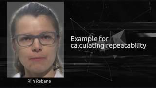 Example for calculating repeatability