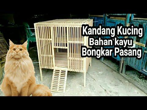 Kandang Kucing Sederhana Dari Kayu Bongkar Pasang Youtube